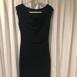 ANN TAYLOR Black Cowl Neck Dress - EUC Size 4